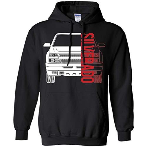 WheelSpinAddict Men's Silverado Truck 1500 2500 2003-2007 Hoodie (2004 Chevy Silverado Emergency Brake Cable Diagram)