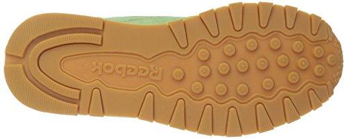 White Coal Lthr Classic Aloe gum Green Pastels Fashion Classic Reebok Sneaker Mens wv6OEwqz