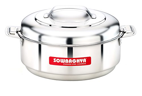 SOWBAGHYA Stainless Steel Casserole, 1500 ml, Silver