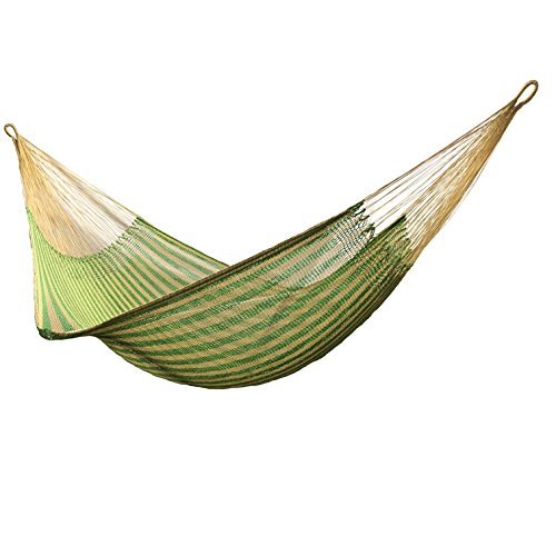 Handmade rope nylon HAMMOCKS wather-resistant made in Venezuelan gold with green