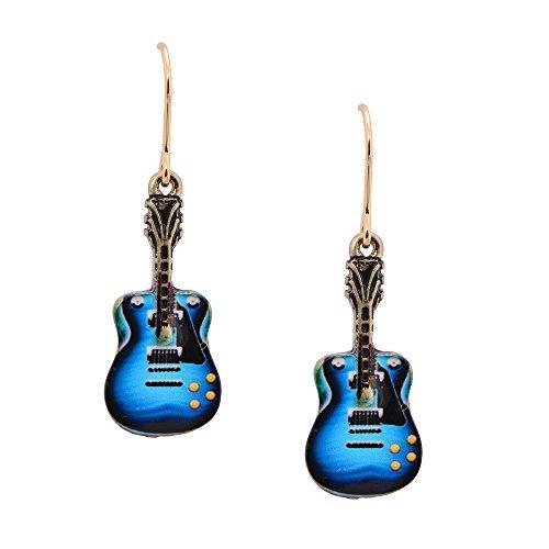 Spinningdaisy Hanging Classic Rock Guitar Earrings (Guitar Earrings)