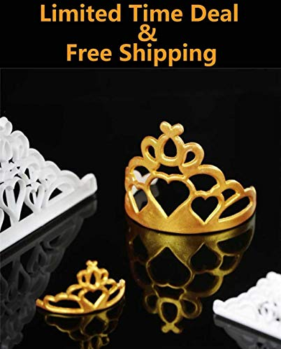 Riforla ⭐⭐⭐⭐⭐ Chocolate Mold,Fondant Wedding Cake Border Cookies Crown Chocolate Mold Silicone Mold Decorative Baking Tools,2 PCS/Set