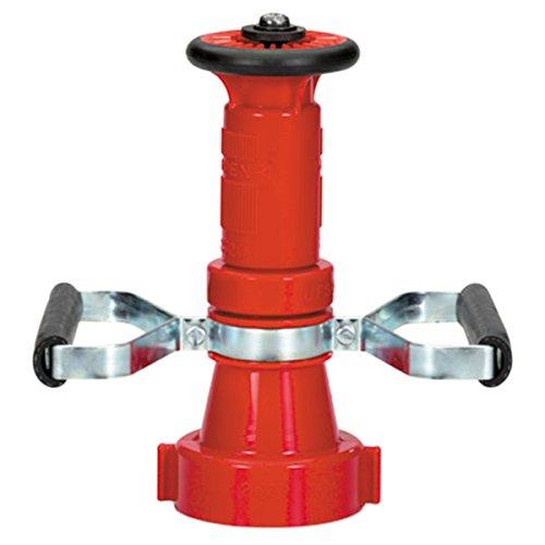 Polycarbonate Fire Hose Nozzle w/ Handles, 2 1/2'' NST, Fog/Stream/Shut-Off, 150 gpm