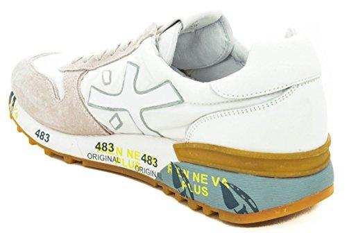 PREMIATA Scarpe Uomo Mick 2823 Suede Nylon Sneakers Bianche Primavera Estate 2018 Bianco 45