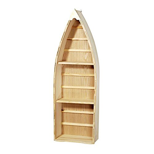 Darice SS-DAR-9158-90 9158-90 Natural Wood Boat - 24 inches Unfinished (Shelves Small Boat Shaped)