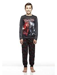 Boys 2-Piece Pajama Set, Long-Sleeve Jersey Top and Fleece Jogger Pants