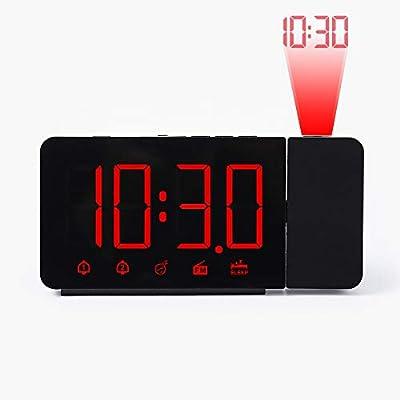 HLDUYIN Reloj Despertador Digital LED Reloj Mesa Multifunción ...