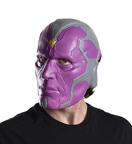 Marvel Rubie's Costume Co Men's Avengers 2 Age Of Ultron Adult Vision 3/4 Mask, Multi, One Size