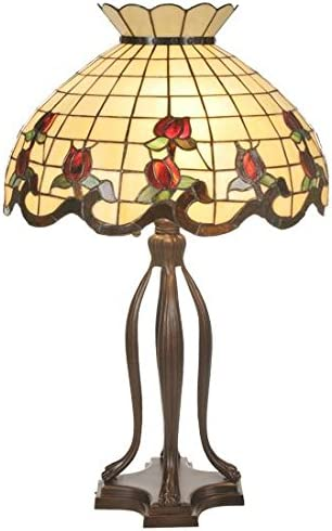 Meyda Tiffany 19138 Lighting, 31.5 High, Finish Beige Burgundy Pink