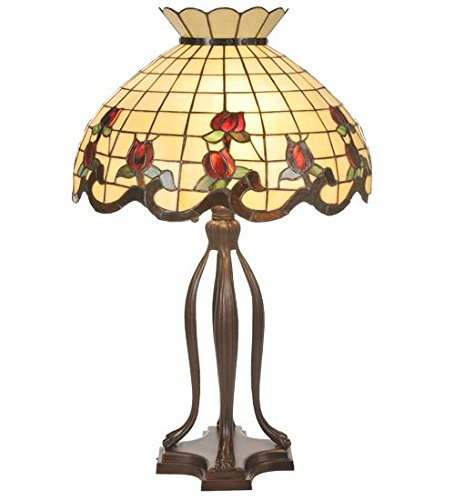 Meyda Tiffany Rose (Meyda Tiffany 19138 Rose Border Table Lamp, 31.5