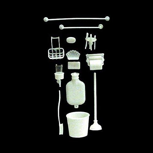 Chrysnbon Dollhouse Miniature Bathroom Accessories Kit