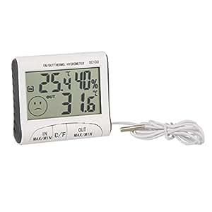 winnereco LCD pantalla Digital Interior Exterior Termómetro y medidor de humedad con Sensor de temperatura