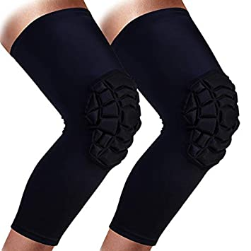 ec6aa2628d Clockwise Crash Proof Knee Pads Basketball Volleyball Football All Contact  Sports, Kids Youth Adult Size, 1PAIR, Non-Separating Honeycomb Compression  Guard, ...