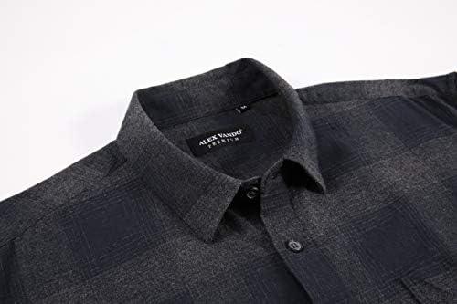 フランネルシャツ 長袖 チェックレギュラーフィット シャツジャケット カジュアル オシャレ アウトドア シャツ