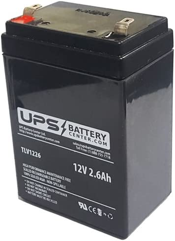 2.76 W 1.85 H L 3.86 NEATA NT12-2.6 12V 2.6Ah Replacement Battery
