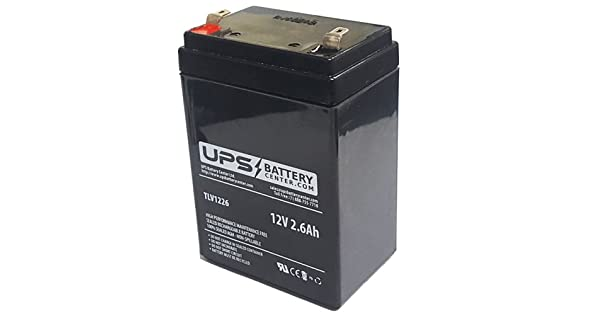 L 1.85 H 2.76 W NEATA NT12-2.6 12V 2.6Ah Replacement Battery 3.86