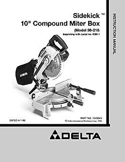 delta 36 210 sidekick 10 compound miter box instruction manual rh amazon com User Manual Instruction Manual Example