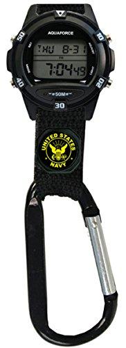 Aqua Force U.S. Navy Digital Clip Watch - 50m Water Resistant