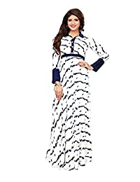 STELLACOUTURE Readymade Long Gown Type Kurti Indian/Pakistani Cotton Rayon Kurti for Women