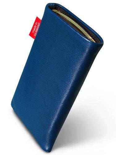 fitBAG Beat Royalblau Handytasche Tasche aus Echtleder Nappa mit Microfaserinnenfutter für Apple iPhone 4 16GB 32GB iPhone4 16 32 GB