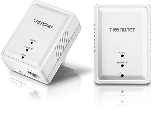 TRENDnet Powerline 500 AV Mini Network Starter Kit, Includes 2 x TPL-406E Adapters, TPL-406E2K by TRENDnet