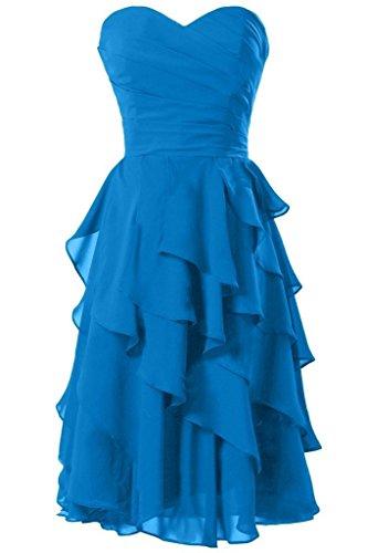 Da Breve 2016 Partito Da Da Vestito Vestito Casa Ritorno Promenade Del A Sera Volant Besswedding Blu Cocktail 8xnAnT