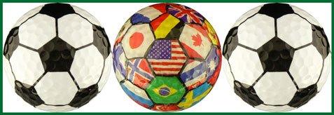 Soccer Balls w/ International Flags Golf Ball Gift Set by EnjoyLife Inc (Image #1)