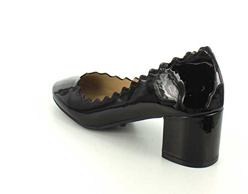 Wanted Shoes Womens Mia Closed Toe Classic Pumps Black Patent wQUoZq