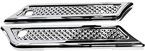 - Eddie Trotta Designs Saddlebag Hinge Covers - Cross Cut Chrome TC982