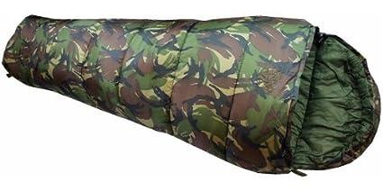 OV - Saco de dormir para niños, diseño militar, color verde