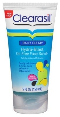 4 Pack Clearasil Daily Clear Hydra-Blast Oil Free Face Scrub 5 Oz Each Makari Exclusive Active Intense Toning Glycerin 16.8oz – Skin Lightening & Brightening Moisturizer for Body with Organiclarine – Whitening Treatment for Dark Marks, Age Spots, Scars & Freckles