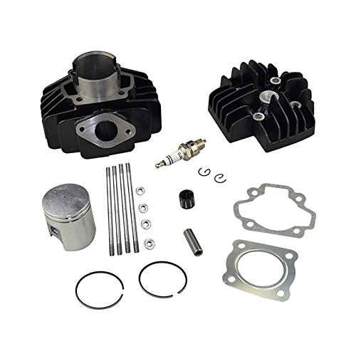 FLYPIG 60CC BIG BORE KIT CYLINDER PISTON GASKET HEAD TOP END SET FOR YAMAHA PW50 (Cyl Head Studs)