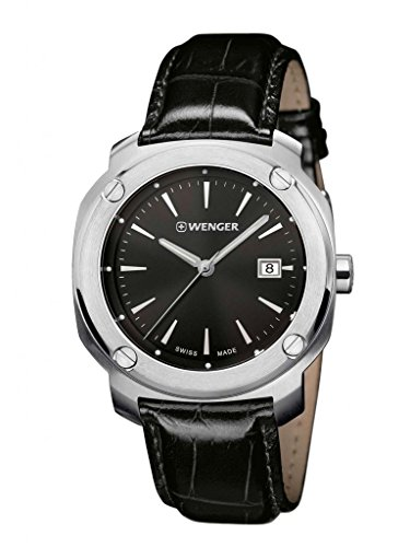 Wenger-011141110-Mens-Edge-Index-Stainless-Steel-Case-Black-Leather-Strap-Band-Black-Dial-Silver-Watch