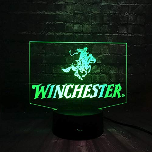 (Zonxn Night Light Game of Battle Prop M1894 Winchester Creative Led 7 Color USB RGB Lava Charge Bedroom Decor Night Light Holiday Friends Gift Toy)