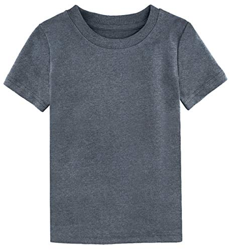 A&J DESIGN Toddler Boys' Blank Cotton Heavy T-Shirt (Athletic Heather, 3T)