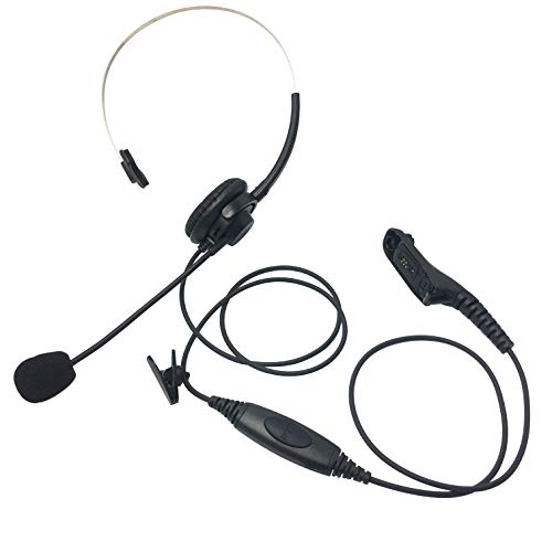 (ProMaxPower Two Way Radio Light Weight Single Muff Headset with Boom Microphone for Motorola DP3401 DGP8050 APX6000XE)