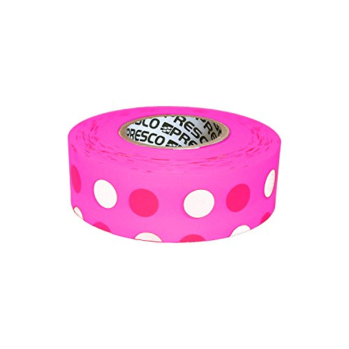 (Presco Polka Dot Patterned Roll Flagging Tape: 1-3/16 in. x 50 yds. (Neon Pink and Light Pink Polka Dot))