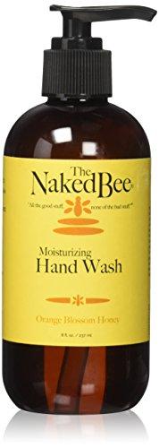 The Naked Bee Moisturizing Hand Wash, 8 Ounce, Orange Blossom (Bee Moisturizing Orange Blossom Honey)