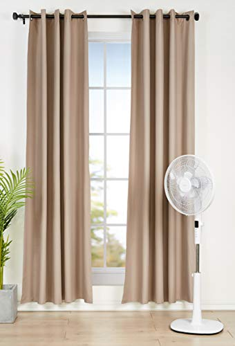 AmazonBasics Oscillating Dual Blade Standing Pedestal Fan with Remote - Quiet DC Motor, 16-Inch
