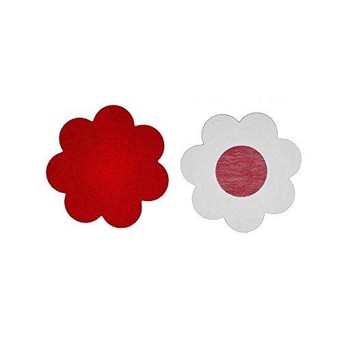 Ypser Rosso Copertina Design 5 al e Raso Adesivo Coppie Multi Petali Capezzolo Fiore Copricapezzoli qBqrCgw