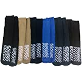 12 Pairs Of excell Mens Assorted Non Skid Slipper Socks #5895-10-13, Assorted Colors