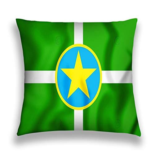 Throw Pillow Cover Pillowcase d Flag Jackson Mississippi
