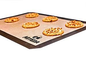 Non Stick Silicone Baking Mat - Healthy Professional Bakeware - A Pack of Two - Half Sheets Size - Tested and Proven