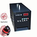 220V Photosensitive Seal Machine 2.36x3.15 inch Self-Inking Flash Stamp Seal Maker 80x60mm for Business Seals Portrait Logo Mark Seal Carton Seal
