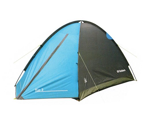 GO Outdoor 2 person tent Rio 2 Tent Waterproof Tent Heavy Duty Tent Backpacking Tents for Camping Hiking Traveling,9921-0001-0101 For Sale