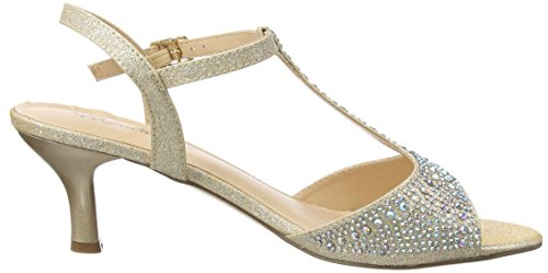 Pleaser Audrey 05 - Sandalias Mujer Beige - Beige (Nude Shimmering Fabric)