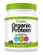 Orgain Organic Plant Based Protein Powder, Creamy Chocolate Fudge - Vegan, Low Net Carbs, Non Dairy, Gluten Free, Lactose Free, No Sugar Added, Soy Free, Kosher