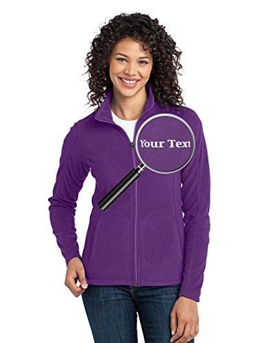 Custom Embroidered Lightweight Jacket for Women - Embroidery Zip Up Fleece Outerwear -