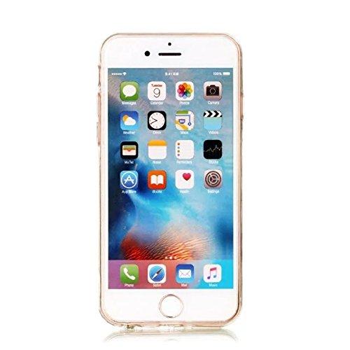 MOMDAD Coque Housse pour iPhone 6 6S Coque iPhone 6 6S Silicone Etui iPhone 6 6S Souple Coque iPhone 6 6S Etui en Silicone iPhone 6 6S Transparent Case iPhone 6 6S TPU Cover Etui de Protection Cas iPh