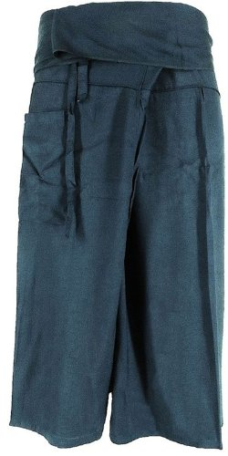 Original Thai Fisherman Pants Trouser YOGA Massage Rayon Cotton Long Warp by SawaddeeThailand